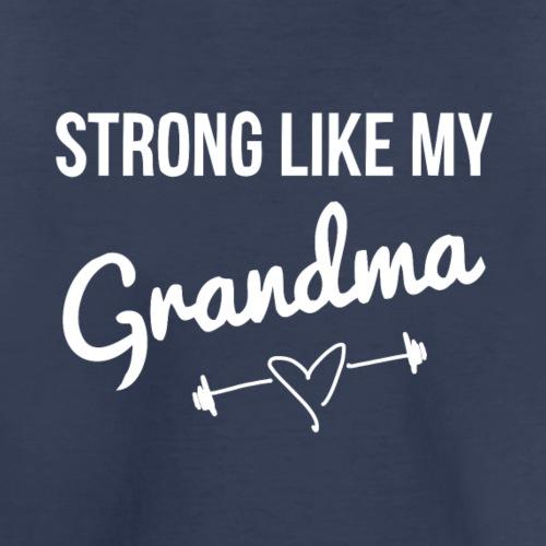 strong like grandma (white) - Kids' Premium T-Shirt