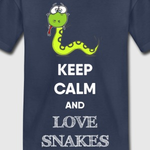 KEEP CALM AND LOVE SNAKES - Kids' Premium T-Shirt