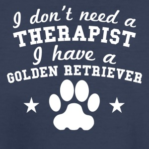 I Don't Need Therapist I Have A Golden Retriever - Kids' Premium T-Shirt