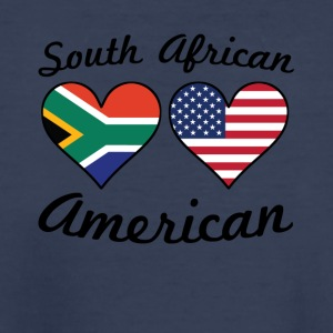 South African American Flag Hearts - Kids' Premium T-Shirt
