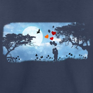 Full moon night and a beautiful kiss - Kids' Premium T-Shirt