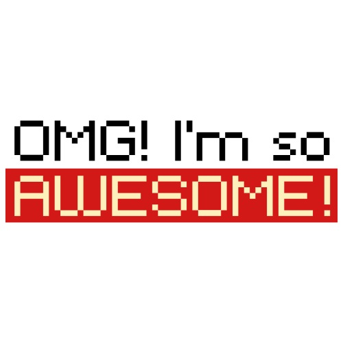 Digital OMG I m so AWESOME - Kids' Premium T-Shirt