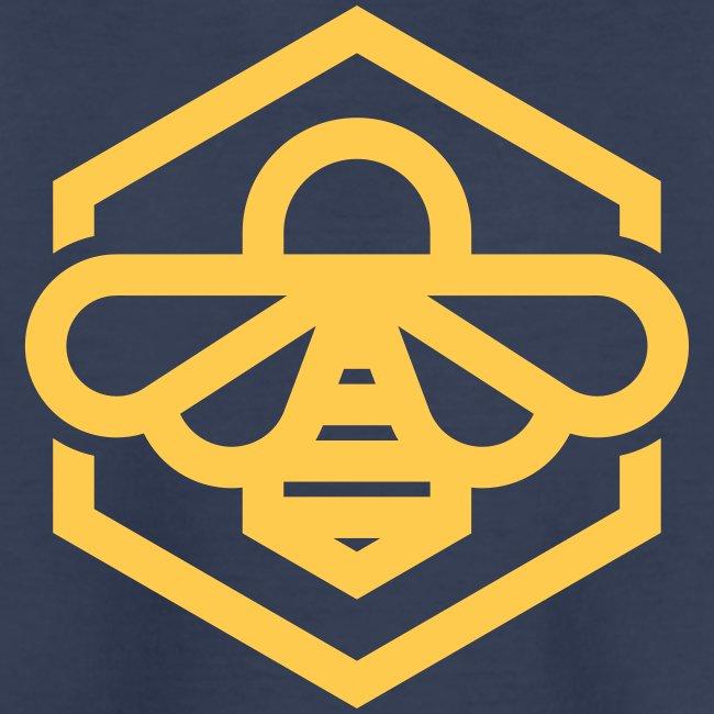 bee symbol orange