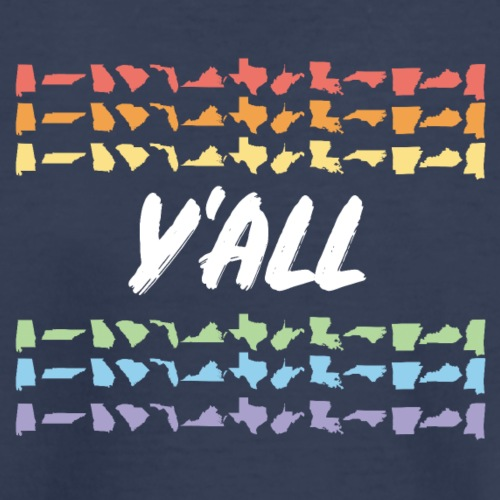 Y'All Means All Horizontal (Dark Background) - Kids' Premium T-Shirt