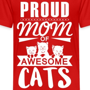 Mom of awesome cats - Kids' Premium T-Shirt