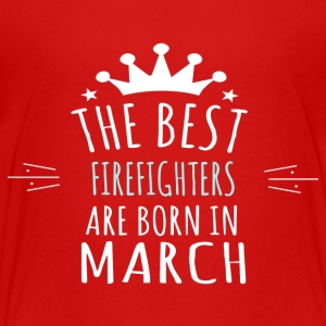 Best FIREFIGHTERS are born in march - Kids' Premium T-Shirt