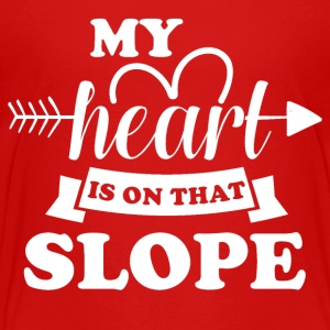 My heart is on that slope - Kids' Premium T-Shirt