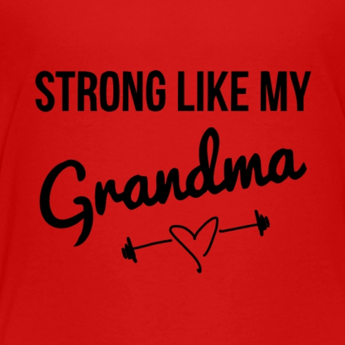 strong like my grandma (black) - Kids' Premium T-Shirt