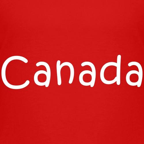 Canada in Child Text - Kids' Premium T-Shirt