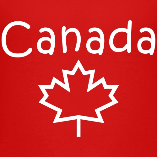 Canada and Maple Leaf in Child Writing - Kids' Premium T-Shirt
