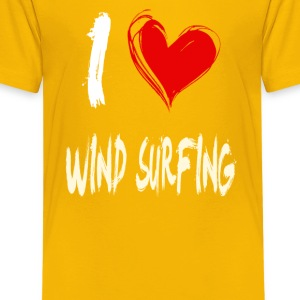 I love WIND_SURFING - Kids' Premium T-Shirt