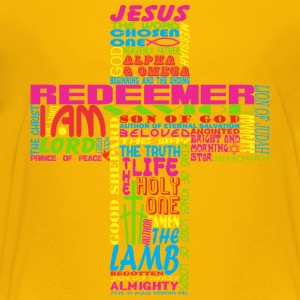 NAMES OF JESUS CROSS - Kids' Premium T-Shirt