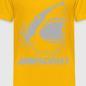 funny vintage soft Jawesome Jaws copy - Kids' Premium T-Shirt