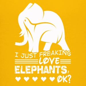 Freaking love ELEPHANTS Tee Shirt - Kids' Premium T-Shirt