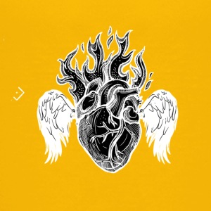 Burning Heart B/W - Kids' Premium T-Shirt