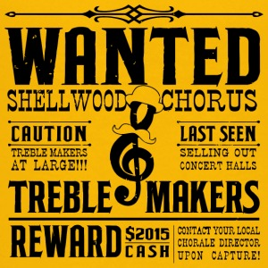 Wanted Shellwood Chorus Caution Treble Makers At L - Kids' Premium T-Shirt