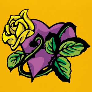 purple_heart_with_yellow_rose - Kids' Premium T-Shirt