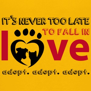 it's never too late for pet adoption - Kids' Premium T-Shirt