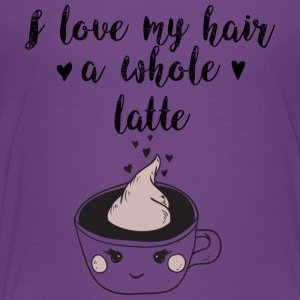 I Love My Hair a Whole Latte by Curl Centric - Kids' Premium T-Shirt
