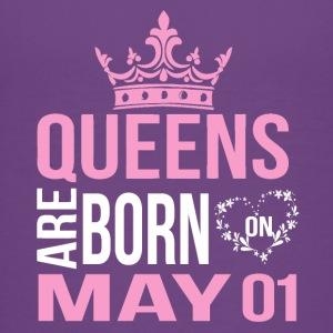 Queens are born on May 01 - Kids' Premium T-Shirt