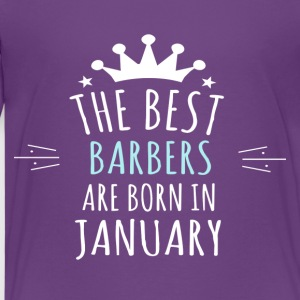 Best BARBERS are born in january - Kids' Premium T-Shirt