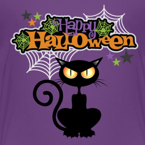 happy holloween BLACCK CAT TEE - Kids' Premium T-Shirt