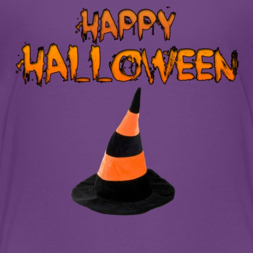 HAPPY HALLOWEEN WITCH HAT TEE - Kids' Premium T-Shirt