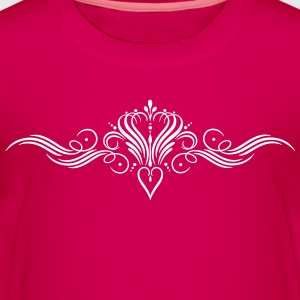 Filigree calligraphy heart with crown - Kids' Premium T-Shirt