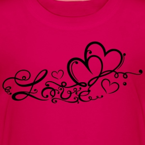 Two hearts in love with lettering - Kids' Premium T-Shirt