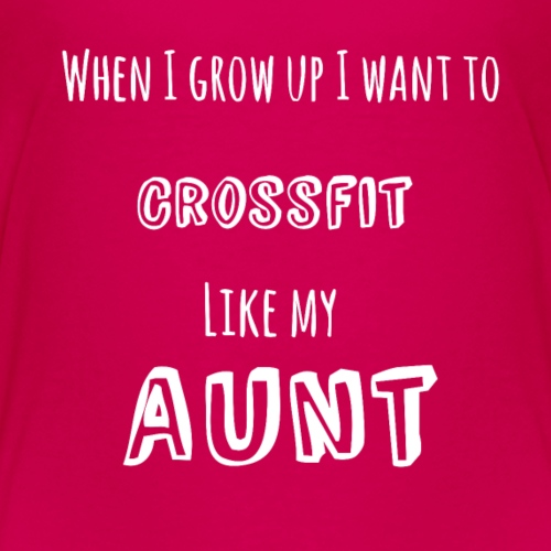 crossfit like aunt (white) - Kids' Premium T-Shirt