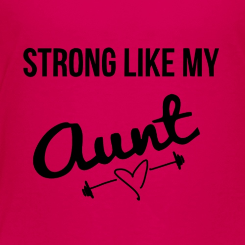 strong like my aunt (black) - Kids' Premium T-Shirt