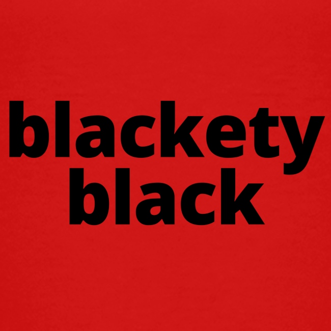 Toddler's blackety black tee