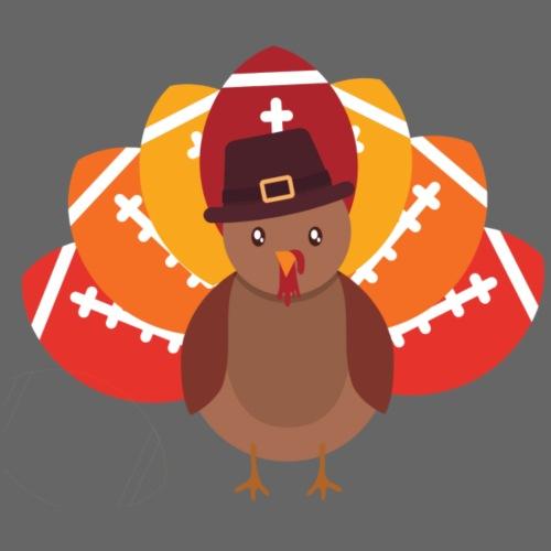 Funny Turkey Football - Kids' Premium T-Shirt