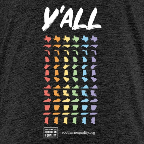 Y'All Means All Vertical (Dark Background) - Kids' Premium T-Shirt