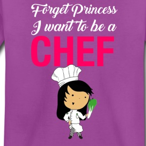 Forget princess I want to be a Chef - Kids' Premium T-Shirt
