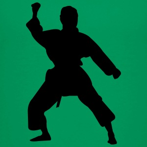 Kung fu fighter silhouette 5 - Kids' Premium T-Shirt