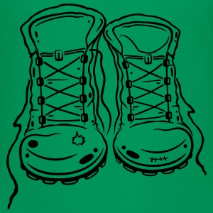 For lovers of hiking: hiking boots. - Kids' Premium T-Shirt