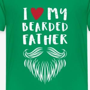I Love My Bearded Father Tshirt - Kids' Premium T-Shirt