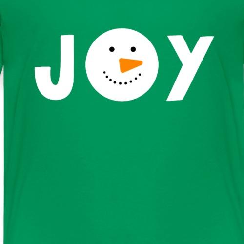 JOY - Snowman Christmas Design! - Kids' Premium T-Shirt