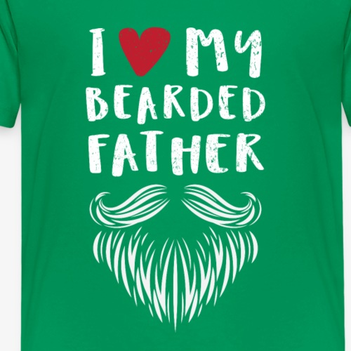 I Love My Bearded Father Tshirt - Kids' Premium T-Shirt