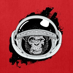 Space monkey Black and white Art - Tote Bag