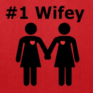 #1 Wifey lesbian interest from Bent Sentiments - Tote Bag