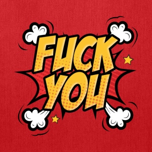 Fuck you comic book style - Tote Bag