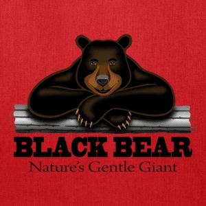 Black Bear: Nature's Gentle Giant - Tote Bag