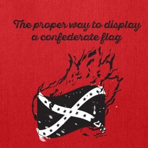 Burn the Confederate Flag - Tote Bag