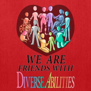 We Are Friends With DiverseAbilities - Tote Bag