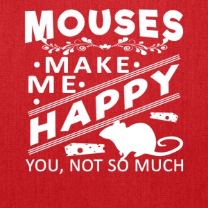 Mouse make me happy Shirt - Tote Bag
