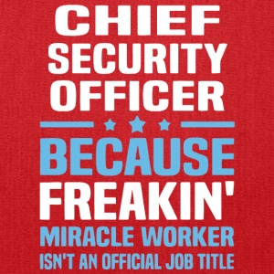 Chief Security Officer T Shirt - Tote Bag