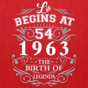 Life begins at 54 1963 The birth of legends - Tote Bag