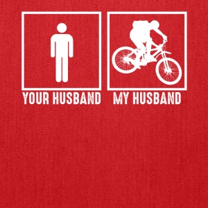 My Husband Loves Bicycling - Tote Bag